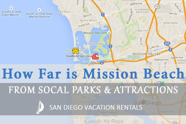 How Far Is Mission Beach From Parks and Attractions?